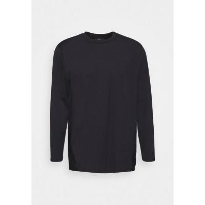 サウスビーチ カットソー レディース トップス LONGSLEEVE CURVE - Long sleeved top - black