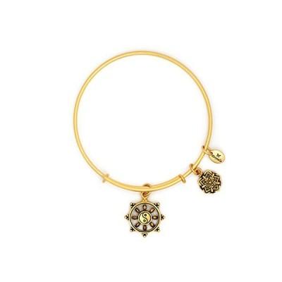 Layering Wire Om Yoga Karma Adjustable Charm Bangle Bracelet for Women, Oxi