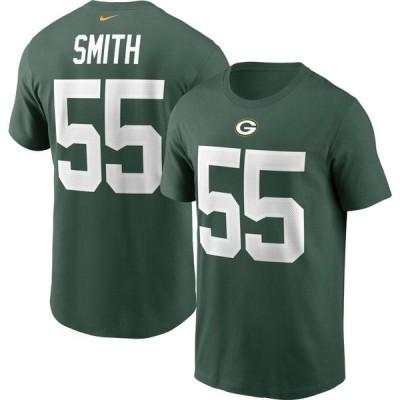 ナイキ Nike メンズ Tシャツ トップス Green Bay Packers Za'Darius Smith #55 Legend Green T-Shirt