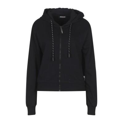 ROBERTO CAVALLI SPORT スウェットシャツ ブラック M コットン 100% スウェットシャツ