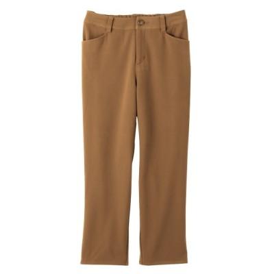 【大きいサイズ】 股ずれしにくい裏地付2WAYストレッチストレートクロップドパンツ(ゆったりヒップ) パンツ, plus size pants