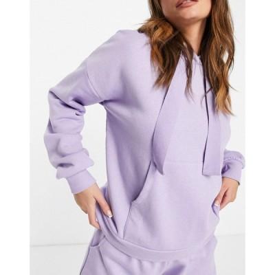 チェルシーペアーズ Chelsea Peers レディース パーカー トップス eco jersey lounge hoodie in lilac ライラック
