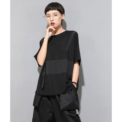 個性的 トップス モード系ファッション 黒 半袖 イベント オフ会 コスプレ ステージ衣装 10代 20代 30代 40代 50代