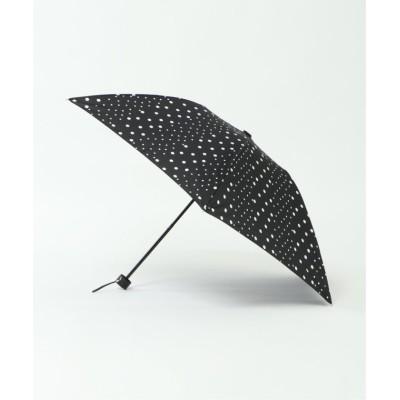(LBC/エルビーシー)晴雨兼用 折りたたみ傘 マルチドット/レディース ブラック
