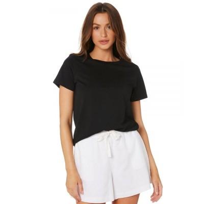 エーエスカラー As colour レディース Tシャツ トップス Maple Tee Black