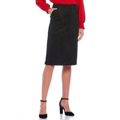 ギブソンアンドラティマー レディース スカート ボトムス Top Stitched Faux Suede Pencil Skirt