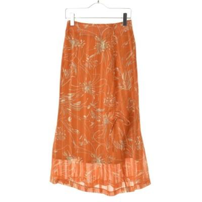 NINE / ナイン 20SS ランダムストライプフラワースカート スカート