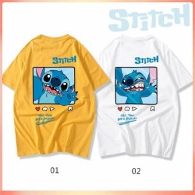 stitch Tシャツ ペアルック tシャツ  ステッチ 半袖 ペア レディース Tシャツ ペアルック カップル メンズ 可愛い 恋人 お揃い T-shirt