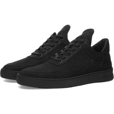 フィリング ピース Filling Pieces メンズ スニーカー ローカット シューズ・靴 low top ripple tonal sneaker Black