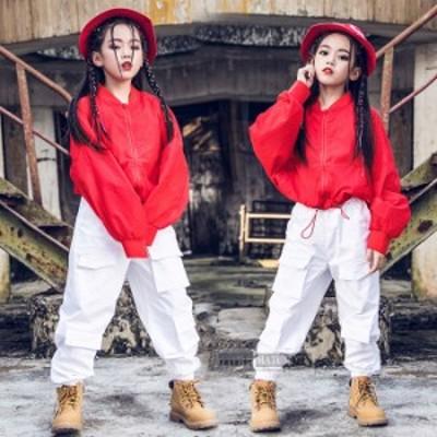 キッズダンス衣装 子供服子供 ジップアップ   長袖 ジャケット ズボン  子供衣装 子供ダンス 発表会 HIPHOP  演出 舞台衣装 新作