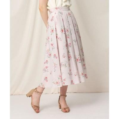 Couture Brooch / クチュールブローチ 【WEB限定サイズ(LL)あり/洗える】ローズプリントフレアスカート