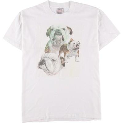 90年代 ONEITA 犬柄 アニマルプリントTシャツ レディースXL ヴィンテージ /eaa151591