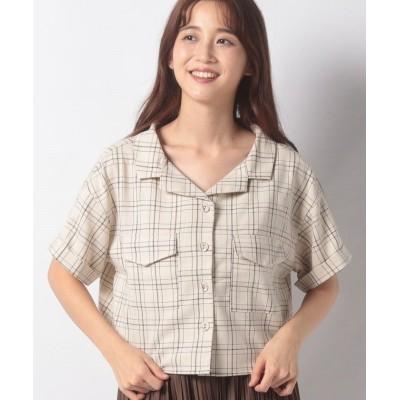 【オリーブデオリーブ】 おしゃWポケットシャツ レディース ベージュ F OLIVE des OLIVE