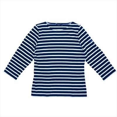 SAINT JAMES GALATHEE Tシャツ 七分袖 ボーダー メンズ レディース 8072 MARINE/ECRU セントジェームス