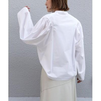 シャツ ブラウス 変形袖ブラウス
