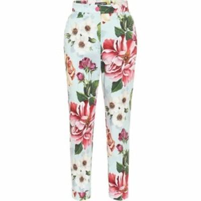ドルチェandガッバーナ Dolce and Gabbana レディース ボトムス・パンツ Floral high-rise straight pants Fiori Ombre F Azzurro