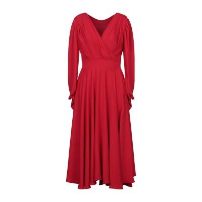 ALEX VIDAL ロングワンピース&ドレス レッド 40 ポリエステル 100% ロングワンピース&ドレス