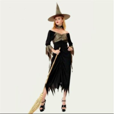 ハロウィーン Halloween コスプレ ロング 魔女セット コスチューム 仮面舞踏会 ステージ衣装 レディースパーティー用仮装 ハロウィーン