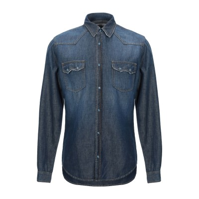 2 MEN デニムシャツ ブルー 46 コットン 60% / リネン 40% デニムシャツ