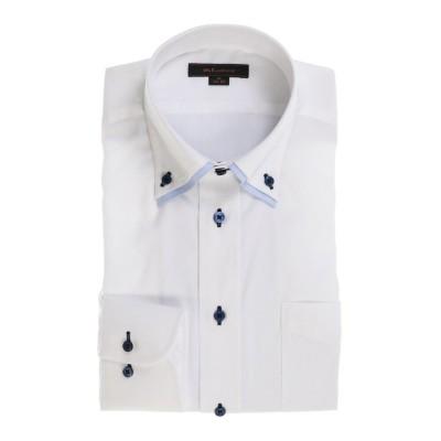 【タカキュー】 形態安定レギュラーフィット 2枚衿ドゥエボタンダウン長袖シャツ メンズ ホワイト M:39-80 TAKA-Q