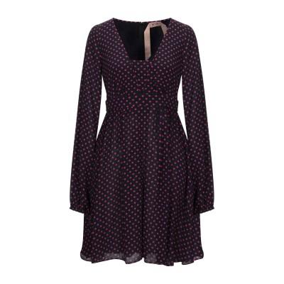 ヌメロ ヴェントゥーノ N°21 ミニワンピース&ドレス フューシャ 38 レーヨン 100% ミニワンピース&ドレス