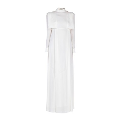 ヴァレンティノ VALENTINO ロングワンピース&ドレス アイボリー 36 シルク 100% ロングワンピース&ドレス