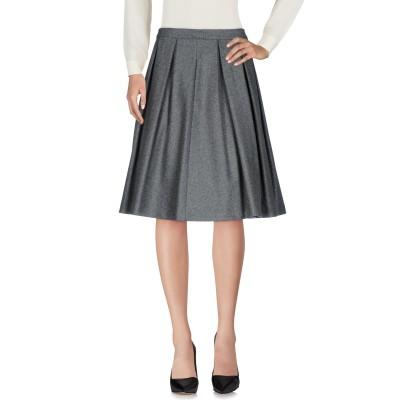 ツインセット シモーナ バルビエリ TWINSET ひざ丈スカート グレー XL ウール 72% / ナイロン 27% / ポリウレタン 1% ひざ