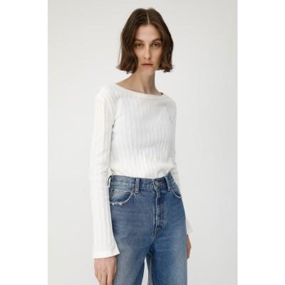 COMPACT RIB LS Tシャツ O/WHT1