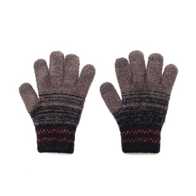 Global Forme Concrete / メンズふわもこ タッチパネル対応 日本製 かすれボーダー柄 手袋 MEN ファッション雑貨 > 手袋