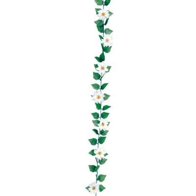 店舗装飾 ミニポインセチアガーランド(白)