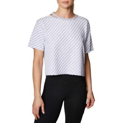 レディース 衣類 トップス betsey johnson women's striped crop t-shirt ブラウス&シャツ