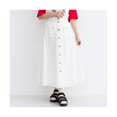 メルロー 送料無料 あすつく デニムスカート ロングスカート コットン素材 送料込み コットンツイルロングスカート MERLOT merlot メルロー
