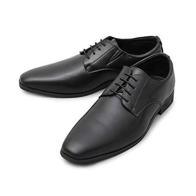 ビジネスシューズ フォーマルシューズ メンズ 紳士靴 紐靴 仕事用 フェイクレザー and-glbt-161 L(26.5cm-27.0cm