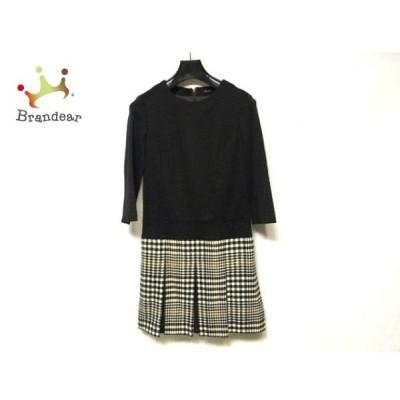 ニジュウサンク 23区 ワンピース サイズ32 XS レディース 美品 黒×白×ブラウン   スペシャル特価 20200615