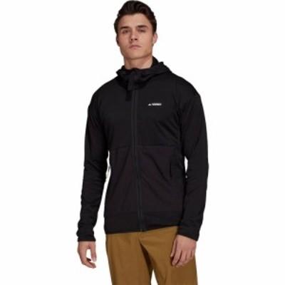 アディダス Adidas Outdoor メンズ フリース フード トップス Tech Floose Light Hooded Jacket Black