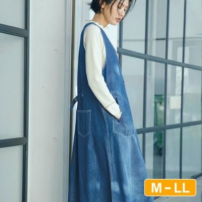 Ranan 【M~LL】デニムジャンスカ ブルー LL レディース