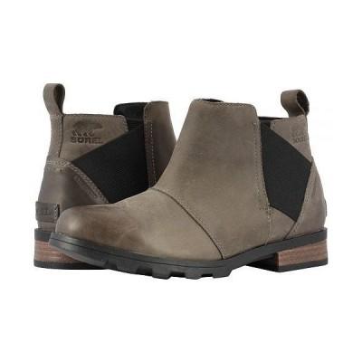 SOREL ソレル レディース 女性用 シューズ 靴 ブーツ チェルシーブーツ アンクル Emelie Chelsea - Quarry/Black