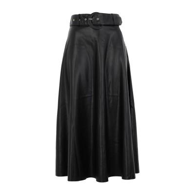 ONLY ロングスカート ブラック 36 ポリエステル 100% / ポリウレタン ロングスカート