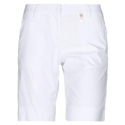 VDP CLUB バミューダパンツ ホワイト 50 コットン 75% / ナイロン 22% / ポリウレタン 3% バミューダパンツ