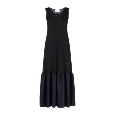 メゾン マルジェラ MAISON MARGIELA 7分丈ワンピース・ドレス ブラック 40 100% シルク ウール 7分丈ワンピース・ドレス