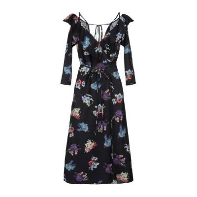 MANGANO ミニワンピース&ドレス ブラック 38 ポリエステル 100% ミニワンピース&ドレス