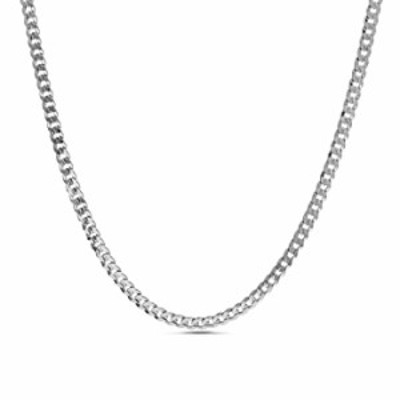 Nautica 1.4mm 16 Inch Miami Cuban Chain Necklace for Men or Women in Rhodium Plated Brass