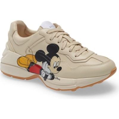 グッチ GUCCI レディース スニーカー シューズ・靴 x Disney Rhyton Mickey Mouse Sneaker Bone