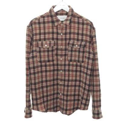 【11月23日値下】JULIEN DAVID ウールチェックシャツ ピンク サイズ:M (渋谷店)