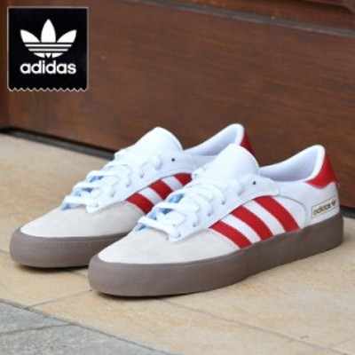 アディダス SB マッチブレイク スーパー スニーカー ホワイト adidas skateboarding MATCHBREAK SUPER WHITE/RED/GUM (SUEDE) スケートボ