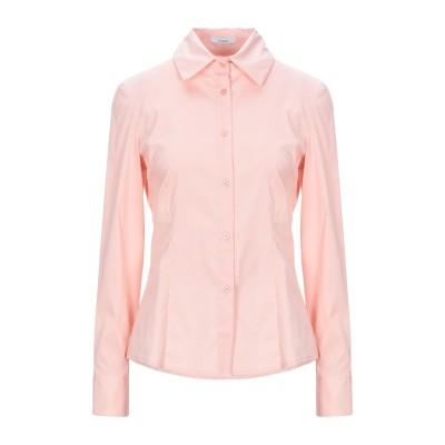 NUALY シャツ ピンク M コットン 78% / ナイロン 19% / ポリウレタン 3% シャツ