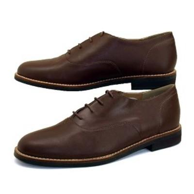 【アウトレット品】フットスタイル FOOT STYLE 5075 オックスフォード 茶 カジュアル ビジネスシューズ メンズ