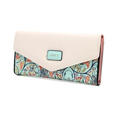 shunxinersty女性レディレザークラッチ封筒財布ロングPUカードホルダーケース財布ハンドバッグライトグリーン