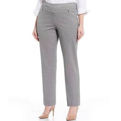 インベストメンツ レディース カジュアルパンツ ボトムス Plus Size the PARK AVE fit Pull-On Straight Leg Plaid Two-Way Stretch Pants