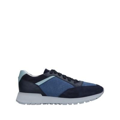 SANTONI スニーカー&テニスシューズ(ローカット) ブルー 6.5 革 / 紡績繊維 スニーカー&テニスシューズ(ローカット)